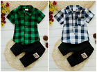 2pc baby boys clothes boys summer cotton shirt+short pants outfits & sets