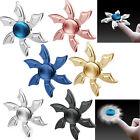 Colorful Metal Round Flower Tri Spinner Fidget Hand Spinner Toy Stress Spinners