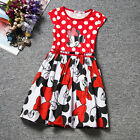 Kids Baby Girls Minnie Mouse Party Mini Dress Summer Vest Skirt Clothes 1-7 Yrs