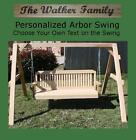 NEW PERSONALIZED SHORT A-FRAME, 6 FOOT SWING W CUSTOM NAME/PHRASE, HANGING ROPE