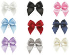 "25pc 50pc 100pc 26mm 1"" Bow w 2 Pearl  Bead 9mm Satin Ribbon Eco Quality Craft"