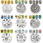 Nail Art Stamping Plates Image Stamp Templates Stainless Steel BORN PRETTY Decor