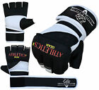 Gel MMA Grappling Gloves Boxing Wrist Wraps Punch Bag Fight Muay Thai