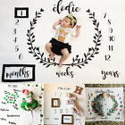 Soft Newborn Baby Letter Milestone Blankets Photography Photo Props Shoots