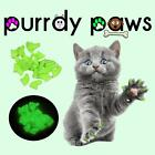 EXCLUSIVE COLOR * ULTRA GLOW * 40 Soft Nail Caps For Cat Claws * Purrdy Paws