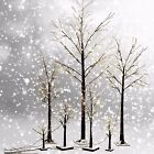 Frosted Brown Birch Twig Snow Tree Lights Lamp, 24L/48L/72L, Xmas/Wedding/Party