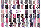 LADIES GENTLE GRIP EVERYDAY COTTON SOCK COLLECTION, PLAIN & PATTERNED, SIZE 4-8
