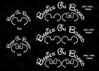 Baby On Board Mickey or Minnie ears decal car stickers Babies