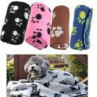 Pet Small Paw Print Pet Cat Dog Fleece Soft Warmer Lovely Blanket Beds Mat