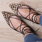 Zara Real Leather Lace Up Pointed Flat Shoes Ankle Boots 37 38 39 New