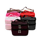 WOMENS Travel Beauty Case MAKEUP Large Cosmetic Set Toiletry Holder Bag New