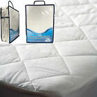 New Waterproof Micro Percale Quilted Mattress Bed Protector Topper Fitted Cover