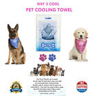 Dog Pet Pup Cooling Towel Microfiber Blanket Pad Active Sun Protection 3 Sizes