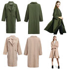 Turn-down Collar Loose Women Wind Coat Lady Overcoat Female Long Outerwear HOT