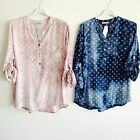 LAGENLOOK NEW MADE IN ITALY STAR POPOVER SHIRT EASY STYLISH ONE SIZE UP TO UK16