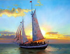 best abstract pictures - Best gift Ship Sailing Oil painting Art wall Picture HD Printed on canvas FC22