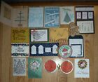 Used Sample Card Lot Christmas Holiday, Winter Cards, Cardstock Pieces Free Ship