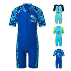 Kids Swimsuit Boys Blue Whale Shark Swimming Costume UV 50+ Sunsafe Sunsuit