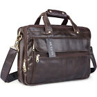 AB Earth Vintage Leather Men's Coffee Briefcase Laptop Bag Messenger HandbagM160