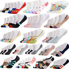 5 Pairs women Men Loafer Boat Socks Invisible No Show Nonslip Low Cut Sport