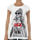 RATED R DIY DO It Yourself Sexy Celebrity Womens White T-Shirt