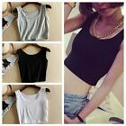Cotton Camisoles Women Short T-Shirt Tank Tops Casual Vest Sleeveless Blouse