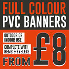 Colour Outdoor Printed PVC Banner - CUSTOM SIZE - Business, Advertising, Party
