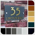 MODERN HOUSE NUMBER PLATE PROPERTY ADDRESS NAME PLAQUE 'GLASS EFFECT' RECTANGLE