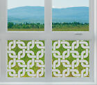 Etched Glass Window Film FROSTED EFFECT twisted rings 2 modern contempory home
