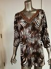 NWT Jaclyn Smith Animal Print Top With Bead Embellishment~Retail $24.99