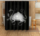 Turtles Polyester Bathroom Waterproof Fabric Shower Curtain Bath Decor Mat Rug