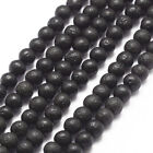 10 Strds Black Natural Lava Beads Round Gemstone Beads 4mm/6mm/8mm/10mm Craft