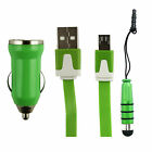 Trio Pack (Micro USB, Car Charger, Mini Stylus) for NGM You Color Smart 5 Phone