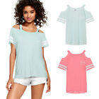 Hot Summer Women Casual Short Sleeve Loose T-shirt Letter Print Graphic Tee Tops