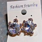 Clear Rhinestone Turtle Post Earrings