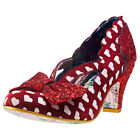 Irregular Choice Stage Left Womens Shoes Red White New Shoes