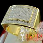 Mens Genuine Silver Yellow Gold Finish Real Lab Diamond Wedding Pinky Ring Band