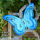 Variety Color Iron Butterfly Fence Hanger Wall Art Yard Outdoor Garden Decor