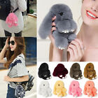 Bunny Rex Rabbit Fur Bag Handbag Keychain Pom Doll Ball Key Chain Ring Pendant