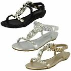 Womens Savannah - Jeweled T Bar Sandals