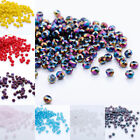 4mm #5040 200pcs Flat oval beads crystals loose beads DIY Jewelry 90 kind colors