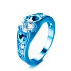Classic Round CZ+3 Color Gold Filled Solitaire Ring Gift Women's Jewelry Sz6-10