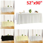 "52X90"" Rectangle Tablecloth Polyester Table Cover Cloth Banquet Wedding Party"