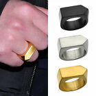 Simple Mens Punk Stainless Steel Band Ring Jewelry Finger Ring Size 8,9,10,11,12