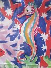 Tropical Seascape Print Fabric Fish Seahorse Shells Saloomey Bloomcraft   f801