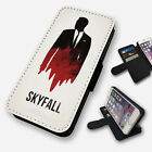 SKYFALL JAMES BOND OUTLINE FLIP PHONE CASE COVER WALLET CARD HOLDER (F) £8.95 GBP