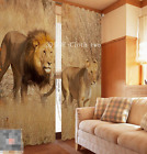 3D Lion Couple 136 Blockout Photo Curtain Printing Curtains Drapes Fabric Window