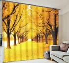 3D Yellow Trees 55 Blockout Photo Curtain Printing Curtains Drapes Fabric Window