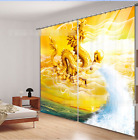 3D Dragon Carving Blockout Photo Curtain Printing Curtains Drapes Fabric Window