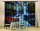 3D Rocks Waterfall Blockout Photo Curtain Printing Curtains Drapes Fabric Window